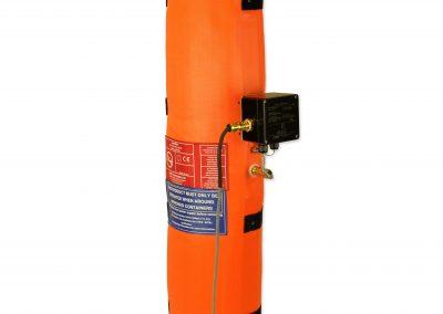 Intelliheat drum heater on a gas bottle