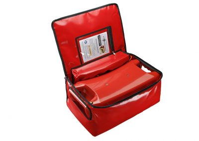Hypothermsave infrared heater in travel bag