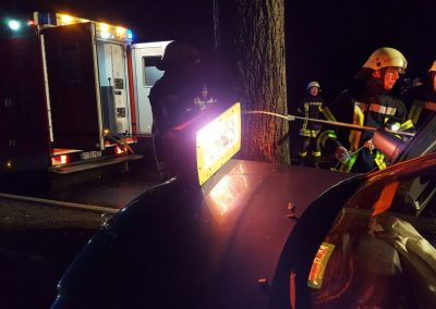 Hypothermsave infrared heater at an accident site