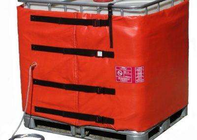 IBC heating jacket for hazardous areas