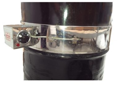 Stainless steel band heater on a drum