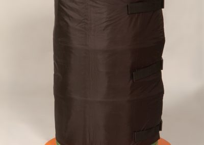 Drum on base heater with HHD heater jacket.