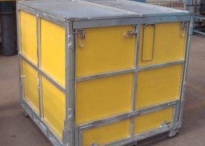 Yellow Multibox folding IBC