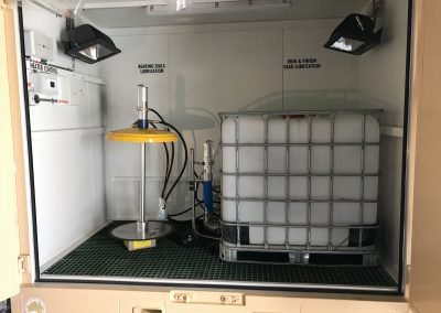 Heliosa EHSAFE Atex infrared heaters with a controller in Stormasta unit