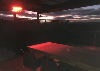 Heliosa seaside heater at beachhouse