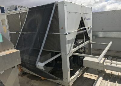 Custom Ecomesh system on an air chiller